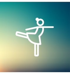 Ballet dancing thin line icon vector