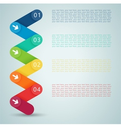 Number steps 3d infographic 1 to 4 a vector