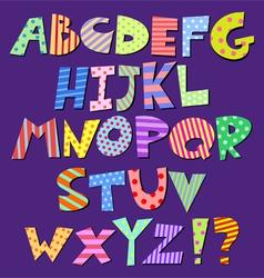 Comic alphabet vector
