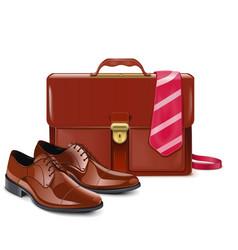 Businessman accessories vector