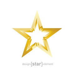 Gold star abstract design element vector