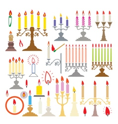 Candlesticks and candles vector