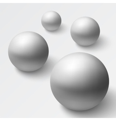 Abstract background with realistic grey spheres vector