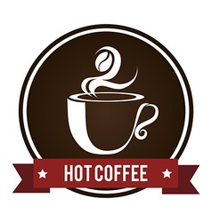 Coffee design over white background vector