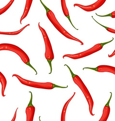 Seamless texture of hot pepper vector