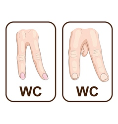 Wc gender symbols vector
