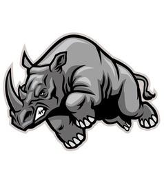 Charging rhino vector