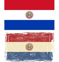 Paraguayan grunge flag vector