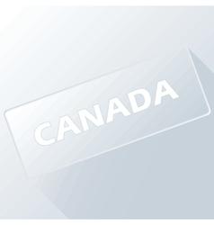 Canada unique button vector
