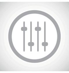Grey faders sign icon vector