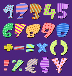 Comic numbers vector