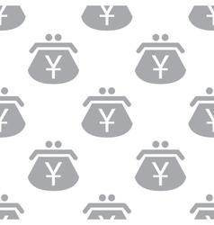 New yen purse seamless pattern vector