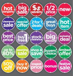 Complete set sales promotion labels vector