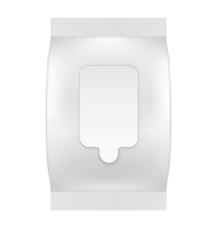 Blank white package with flap for wet wipes or vector