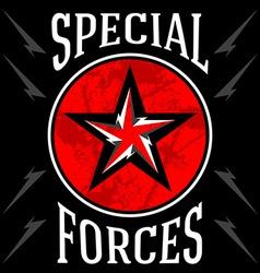 Special forces military emblem vector
