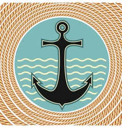 Nautical anchor symbol vector