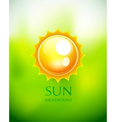 Sun background vector