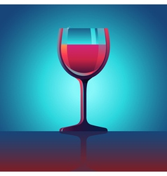 Wine glass vector