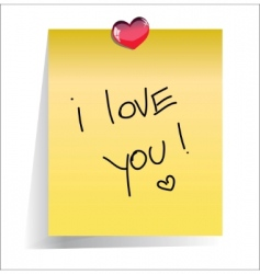 Love you paper note vector