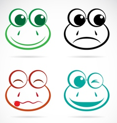 Image of an frog face vector