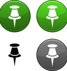 Drawing-pin button vector