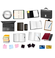 Office and business supplies and busines vector