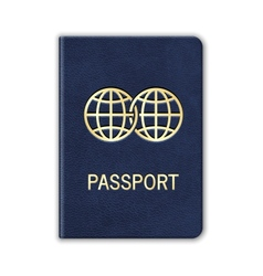 Realistic passport isolated on white vector