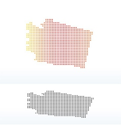 Map of usa washington state with dot pattern vector