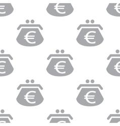 New euro purse seamless pattern vector
