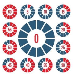 Timer icons set vector