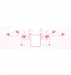 Frame and flowers vector