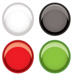 Beer bottle top vector