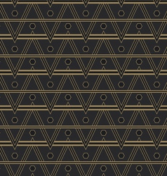 Seamless art deco style pattern vector
