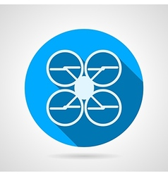 Quadrocopter flat icon vector