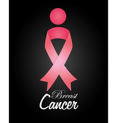 Cancer design over black background vector