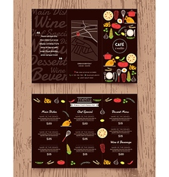 Restaurant menu design pamphlet template vector