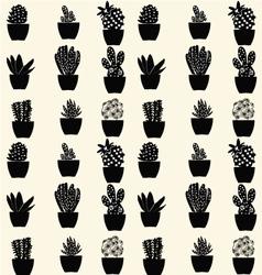 Cactus pattern cartoon cactus vector
