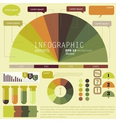 Set of infographic elements design template vector