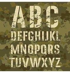 Military alphabet vector