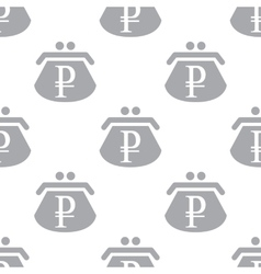 New rouble purse seamless pattern vector