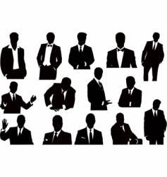 Businessmen silhouettes vector