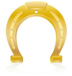 Gold horseshoe talisman charm vector