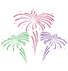 Sketch for abstract colorful firework vector