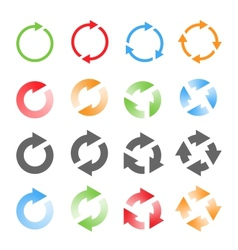 Rotating arrows set vector