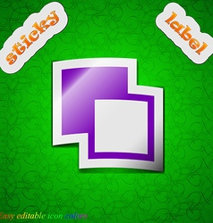 Active color toolbar icon sign symbol chic colored vector