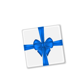 Present with blue bow for your holiday vector