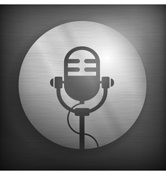 Microphone icons in gray vector