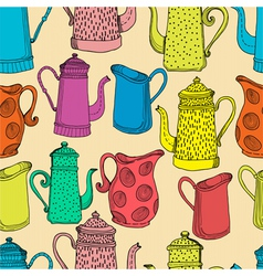Seamless pattern with jugs vector