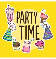 Party time icons vector