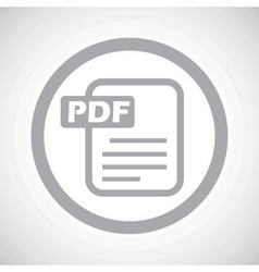 Grey pdf file sign icon vector